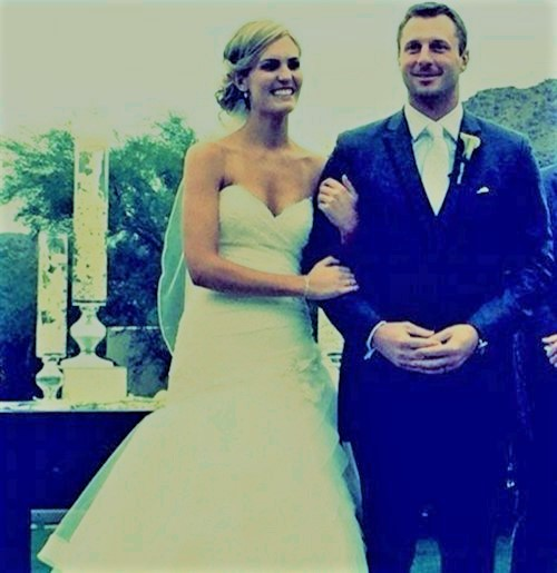 Erica on their Wedding Day